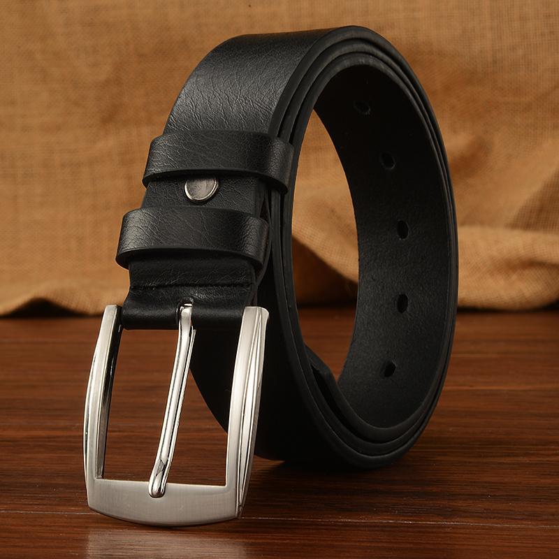 Belt mens pin buckle belt student versatile punch belt youth middle aged leisure business belt Han banchao