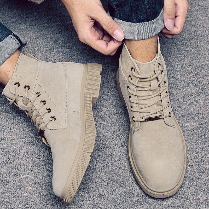 Autumn and winter 2019 new Martin boots mens boots high top shoes British leather European and American work clothes shoes leather boots desert boots