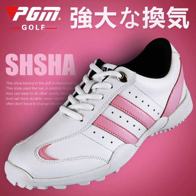 热卖促销 元!正品高尔夫球鞋女士球童鞋子防水透气高尔夫鞋pgm