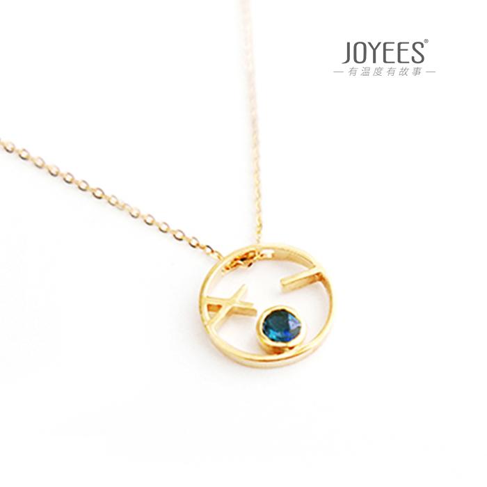 Joyees big face said 18K Gold tourmaline BLUE GEM PENDANT NECKLACE net red couple jewelry