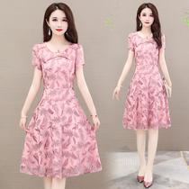 显瘦连衣裙2020夏季新款女装气质25-30岁20到40中长款大码时尚裙