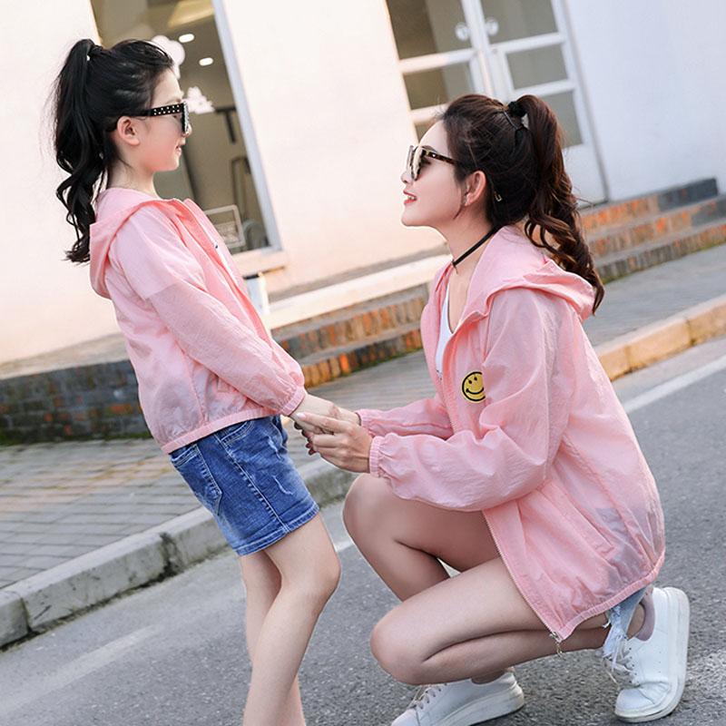防晒衣男女短款2018夏季新款薄款外套防紫外线韩版亲子防晒服宽松