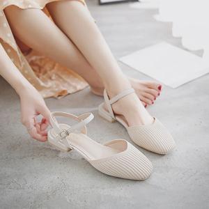 凉鞋女仙女风2020夏季新款晚晚鞋百搭时尚包头凉拖女平底网红女鞋