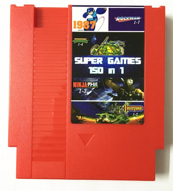 任天堂原�bNES游��C60P�D�Q72P卡��NES合卡 NES 150合一游�蚩�