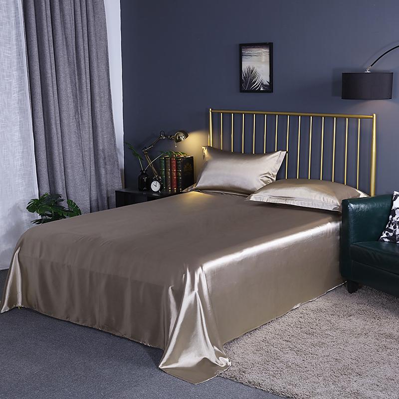 真丝床单单件纯色桑蚕丝1.5/1.8m米丝绸被单床笠被套夏季床上用品
