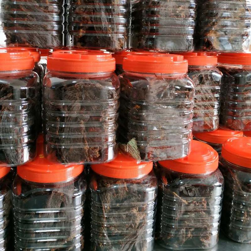 Huling beef jerky snack 1 jin in bulk Satay spiced spicy 500g in Wenzhou specialty barrels