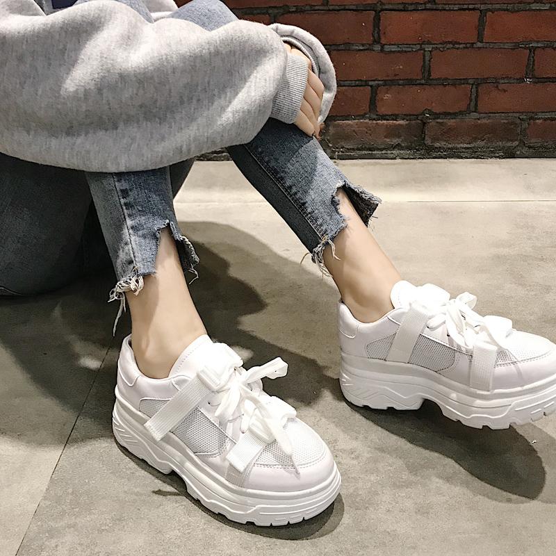 2018春夏新款老爹鞋韩版学生原宿风ulzzang百搭软妹运动小白鞋女