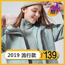 户外冲锋衣女潮牌三合一两件套可拆卸加绒加厚秋冬季韩国登山服男
