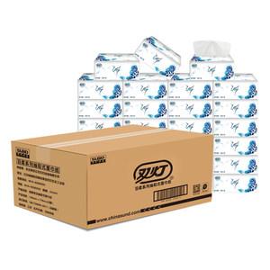 双灯抽纸批发整箱27包餐巾纸家庭装面巾纸婴儿家用卫生纸巾纸抽