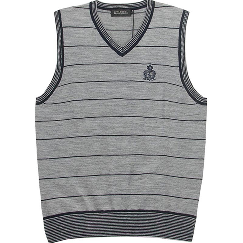 S. B.p.r.c / St. Paul mens business casual loose V-neck striped knitted vest