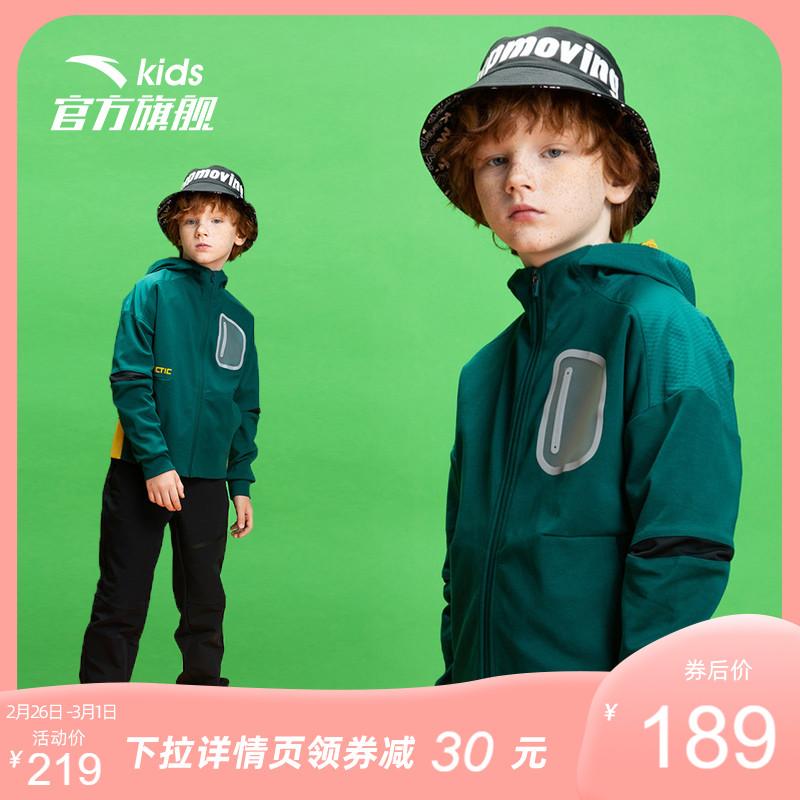 安踏儿童男童潮洋气2021春款风衣
