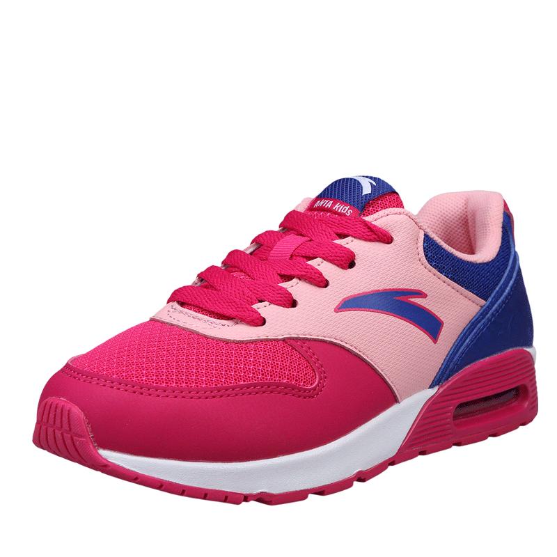 安踏童鞋 女童鞋跑鞋兒童女鞋 鞋 中大童氣墊 鞋子