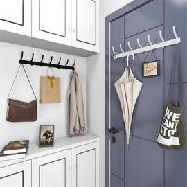 衣服挂钩一排长条墙壁挂墙上免打孔进门门后衣帽钩衣柜玄关挂衣架