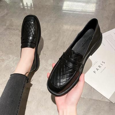 工作鞋女黑色久站不累脚软底上班单鞋厚底皮鞋大码女鞋41一43秋季