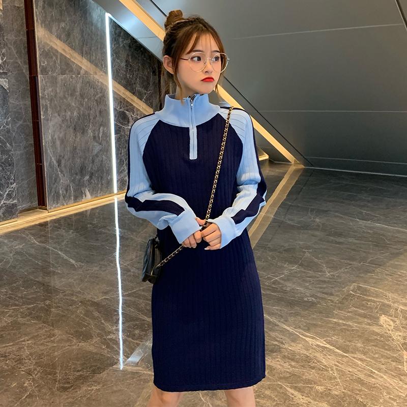 早秋韩版2019新款修身显瘦女连衣裙(非品牌)