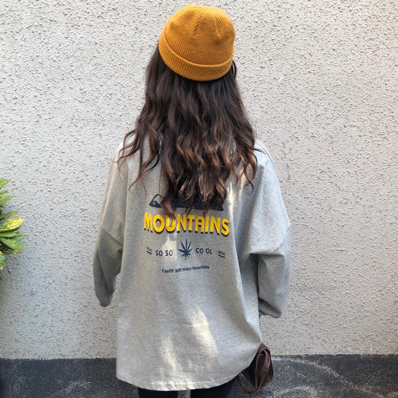 2019秋季新款韩版宽松bf风个性t恤