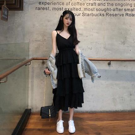 连衣裙女韩版夏 v领 显瘦高腰图片