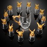 12只十二生肖白酒杯套装分酒器水晶玻璃中式酒具小酒杯一口杯家用