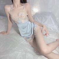 查看Nunnally系带露背情调吊带蕾冰丝睡裙性感睡衣女夏季趣味私房内衣价格