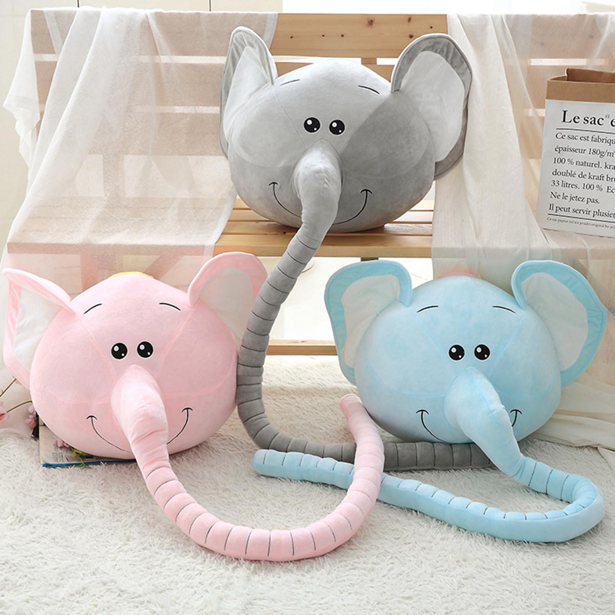 卡通长鼻象抱枕公仔长鼻子大象毛绒玩具丑萌娃娃睡觉枕头沙发靠垫