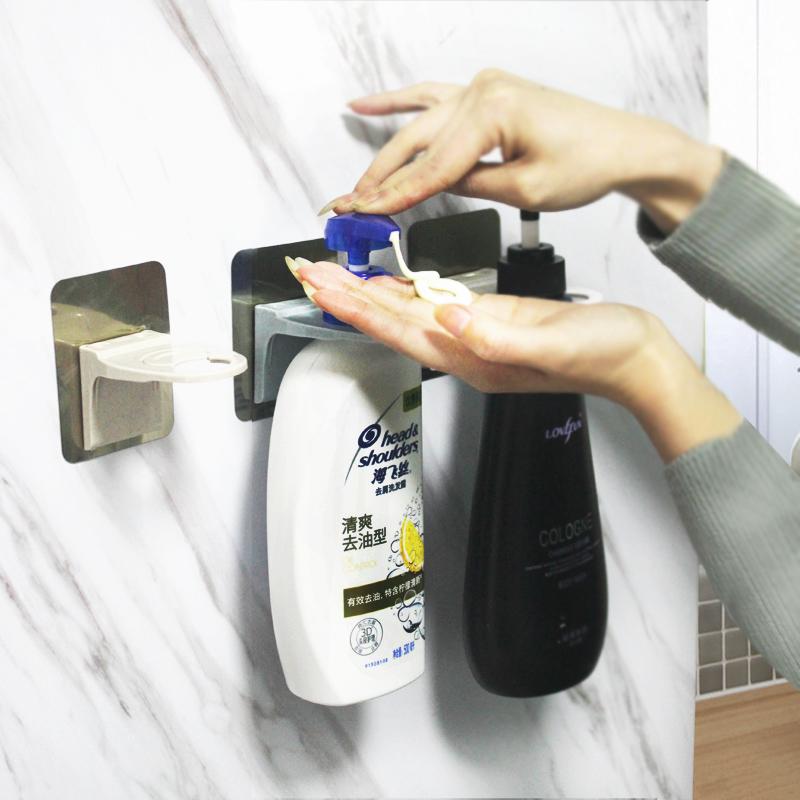 满2元可用2元优惠券免打孔卫生间浴室放洗发水沐浴露的架子洗手液洗洁精挂架置物架