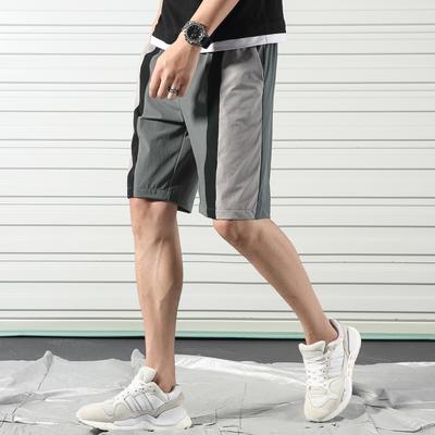 夏季休闲拼色五分裤男加肥大码宽松休闲简约沙滩裤A090-6602 P45