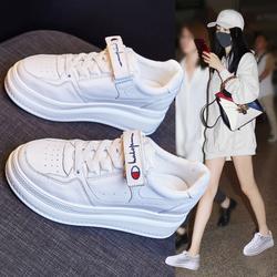 内增高2020秋冬新款百搭加绒小白鞋