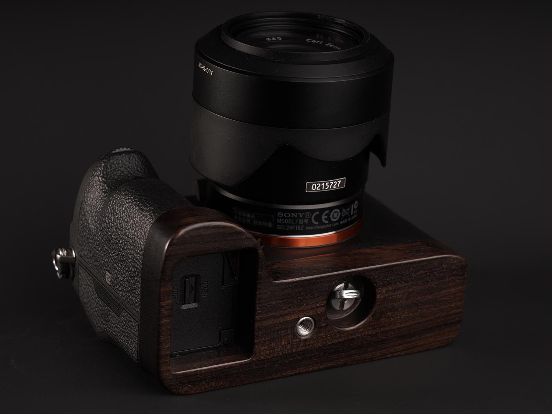 Sony/索尼 A7R4 A9M2紫光檀手柄黑檀木快装板底座相机保护握柄图片