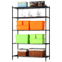 Si Meijia kitchen shelf floor five floor rack iron storage metal storage free hole saving space shelf