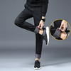 Casual pants plus velvet pants Korean version of the 2017 new trend of men Slim pants feet Dongkuan male winter
