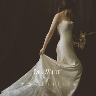 亲爱的白2020新款《庄园小姐》轻婚纱主森系简约拖尾小礼服女新娘