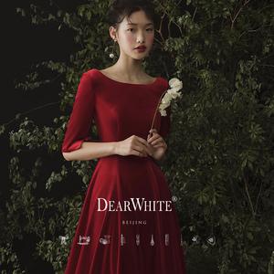 亲爱的白《绯色》新娘红色女晚礼服