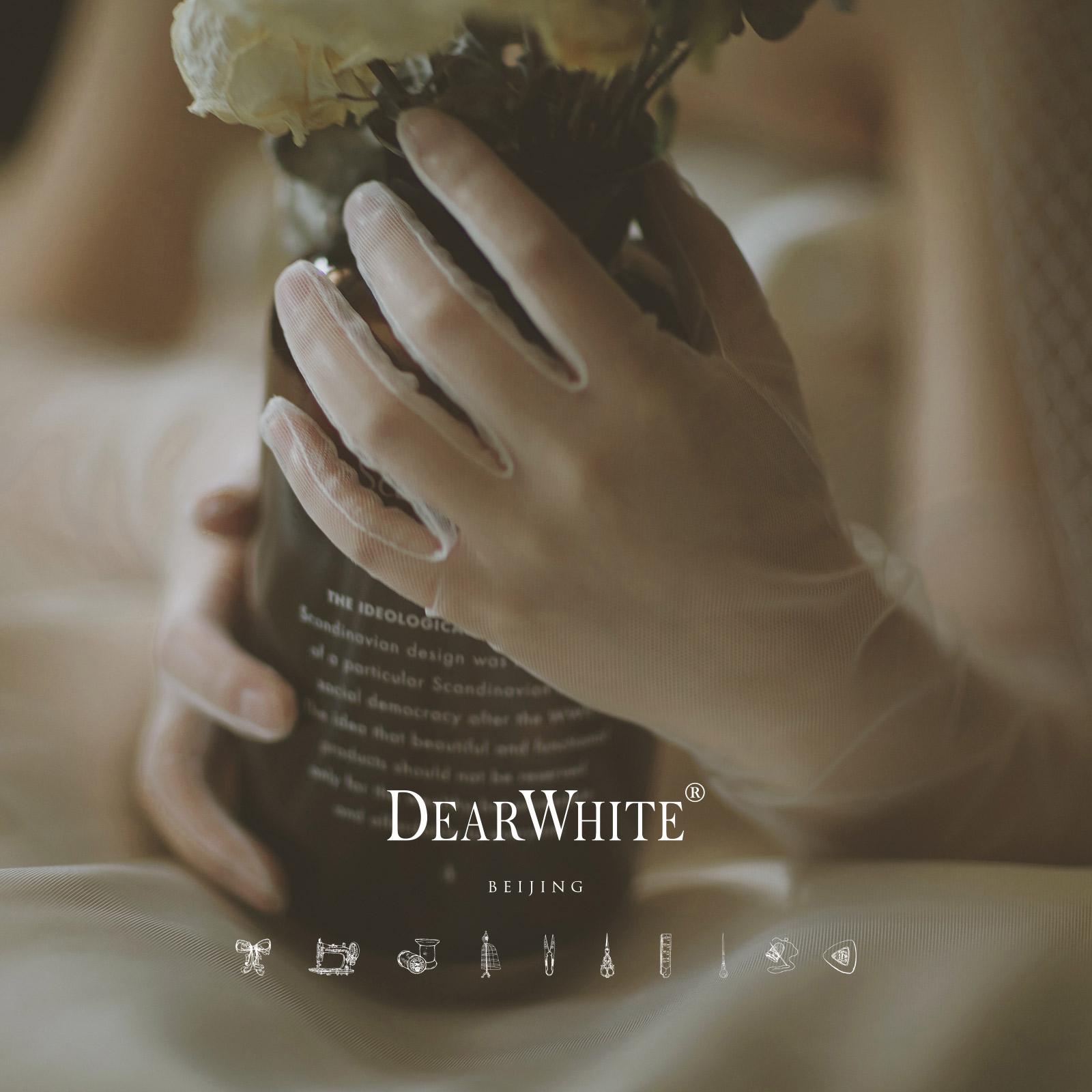 """Близко любовь уайт-плейнс создание подлинного """" рука письмо «DearWhite невеста свадьба выйти замуж кружева с длинным модель перчатки"""