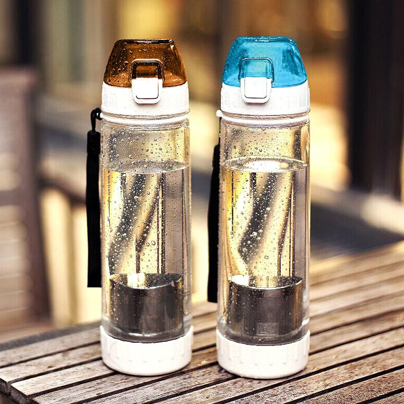 綠珠學生水杯 戶外塑料杯子旅行太空杯水壺便攜水瓶過濾泡茶杯