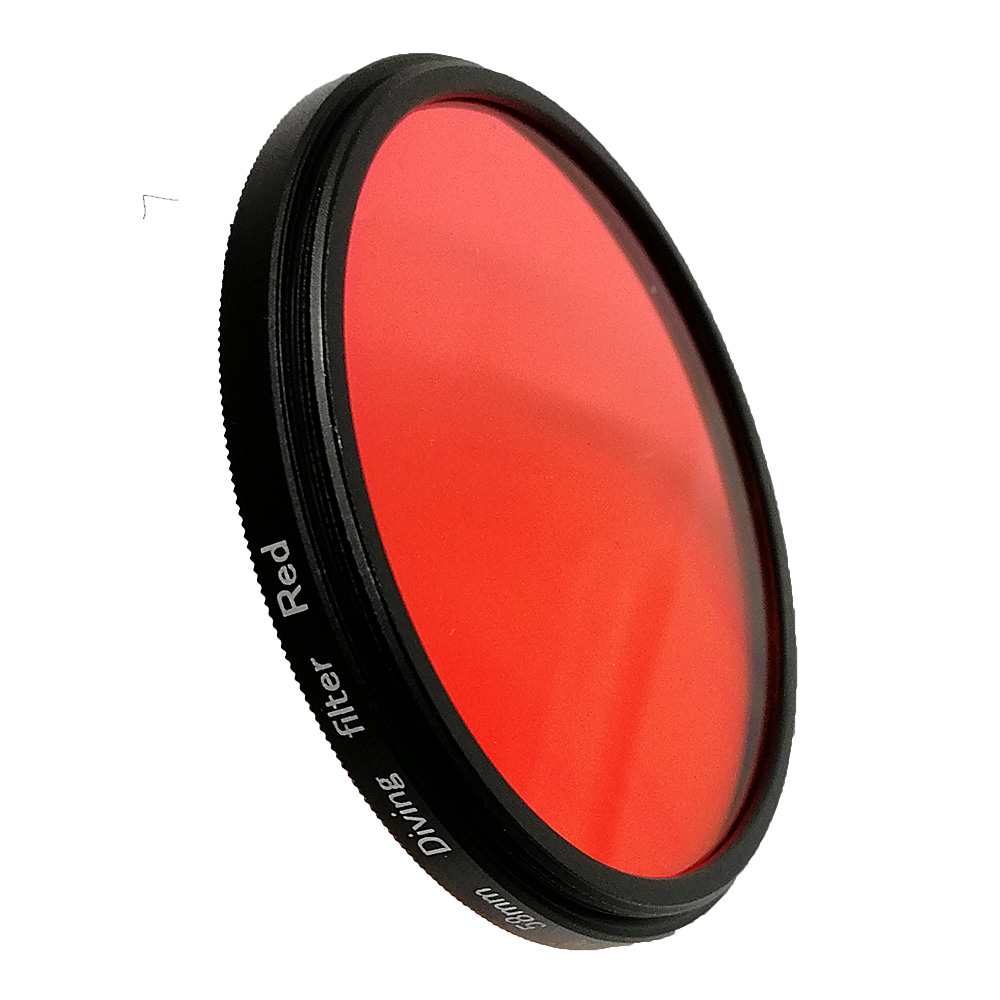 37 52 58 67mm red professional diving panchromatic filter high quality circular SLR Digital Camera Canon