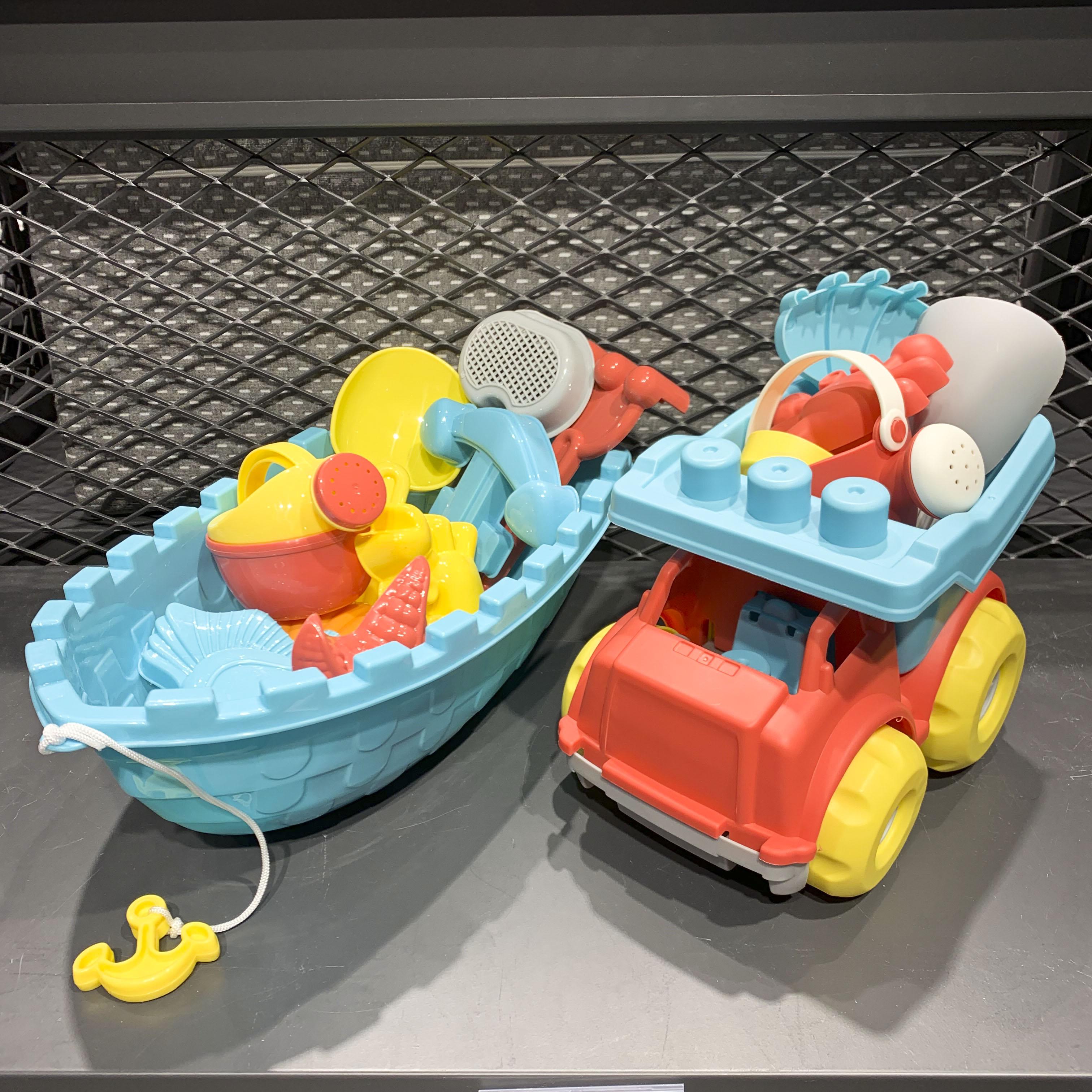 11月29日最新优惠modern house国内代购 儿童帆船沙滩工程车套装宝宝玩沙桶装玩具