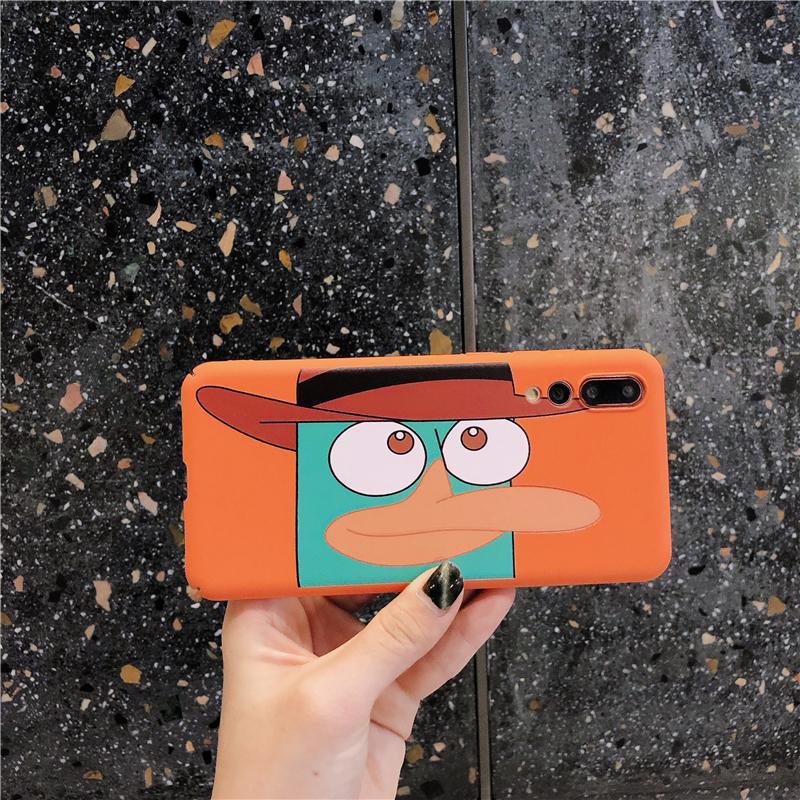ins卡通橘色鸭子华为p20pro手机壳16.80元包邮