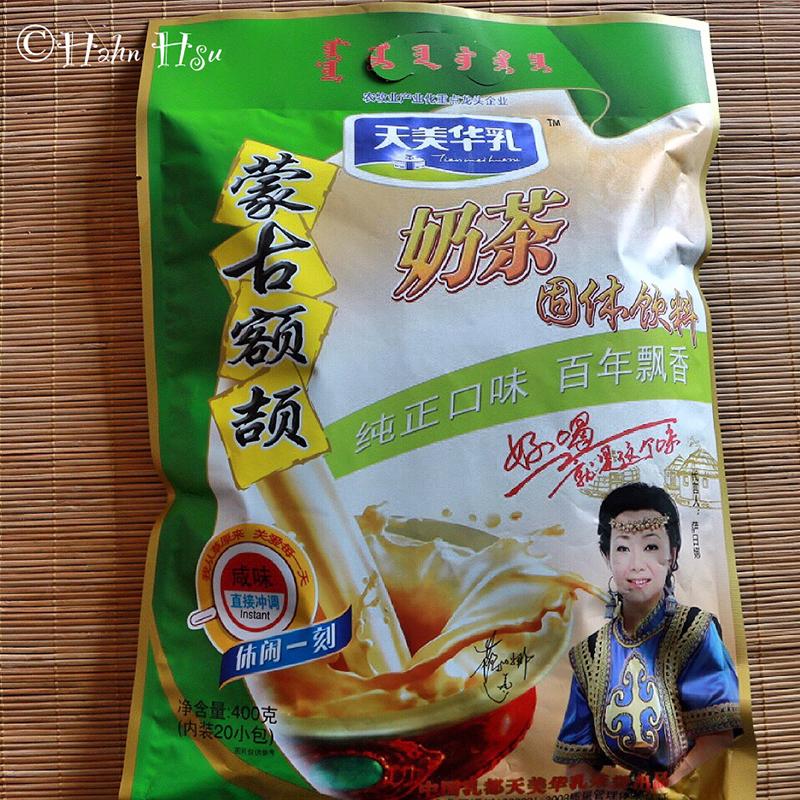 内蒙古天美华乳额颉 奶茶粉 独立包咸味甜味400g  蒙古奶茶