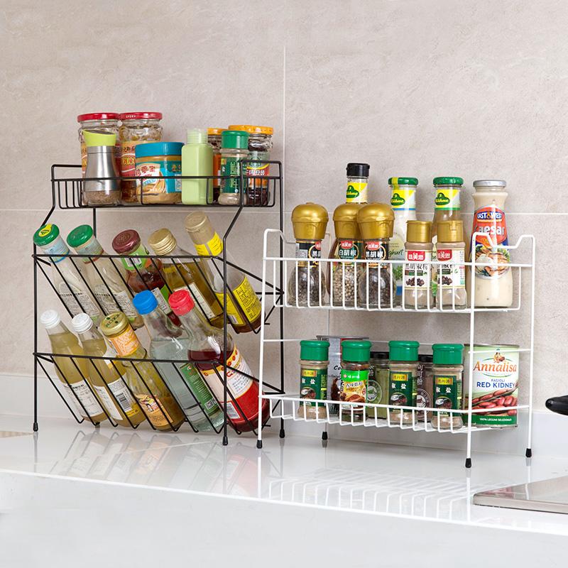 铁艺多层调料架厨房用品置物架 台面落地调味料架子调味品收纳架限8000张券