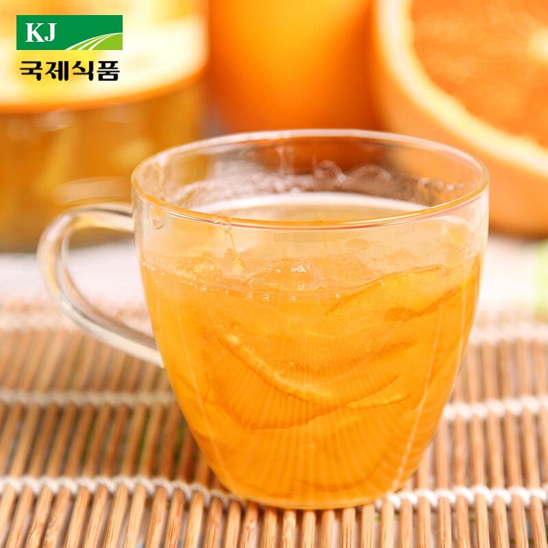 包郵 韓國 KJ國際蜂蜜柚子茶560g 富含維C 飲料飲品水果茶