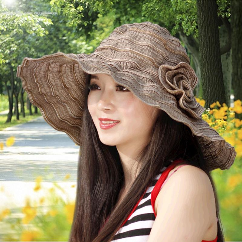 帽子遮陽帽女防曬遮臉防紫外線折疊夏天女士太陽帽中年媽媽涼帽夏