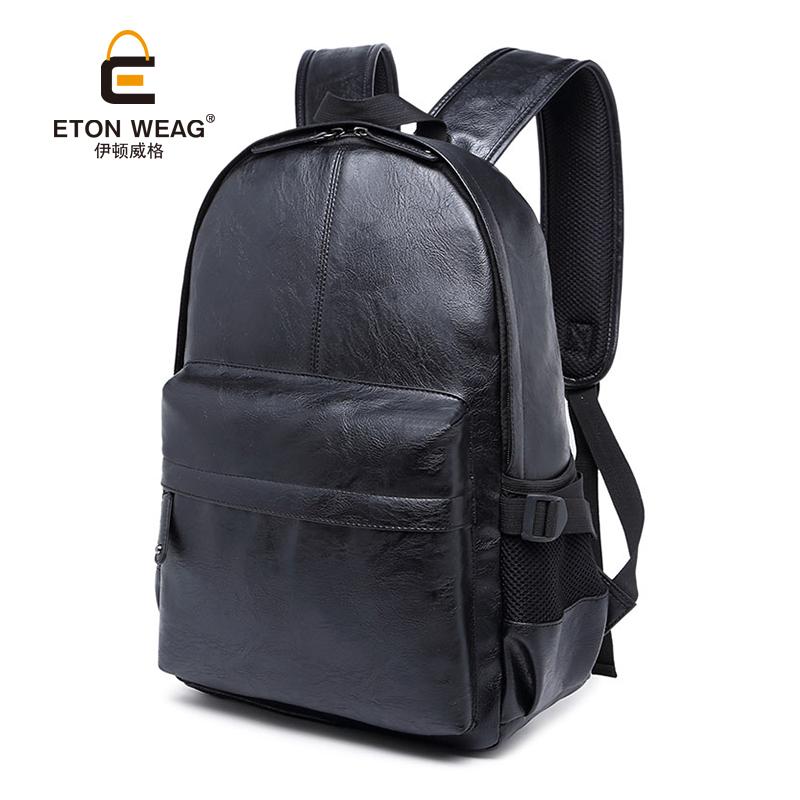 EW 2016 男士背包 潮流PU皮質雙肩包 學生書包電腦