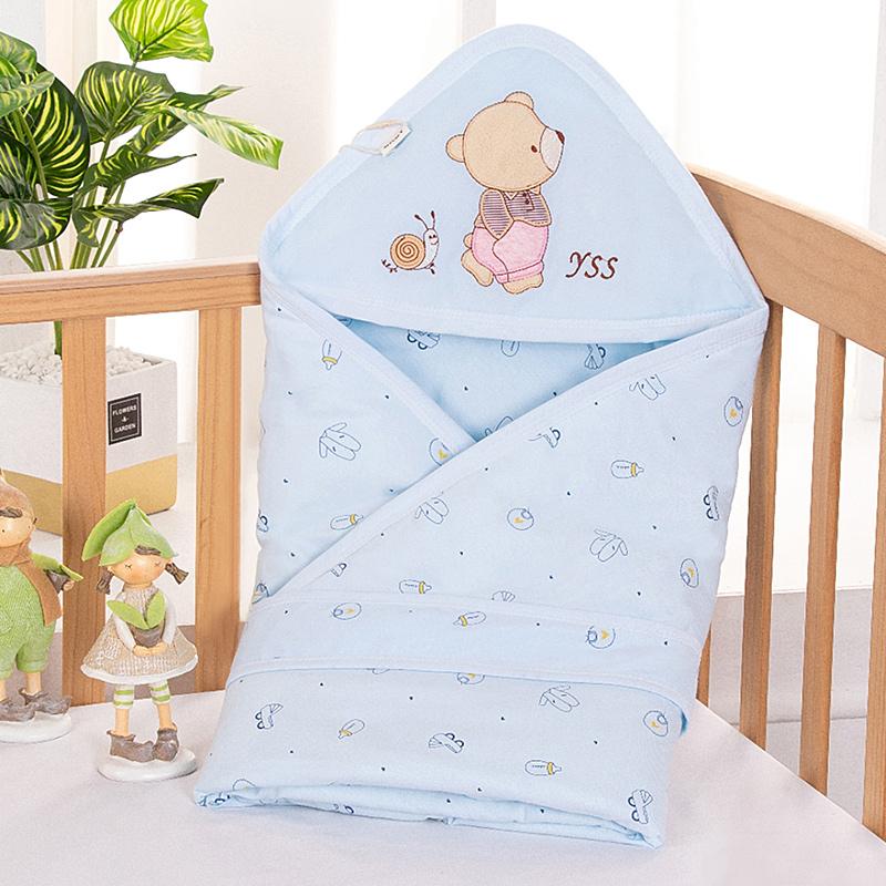 婴儿包被新生儿抱毯秋冬季宝宝抱被纯棉春夏薄款襁褓包巾裹布用品