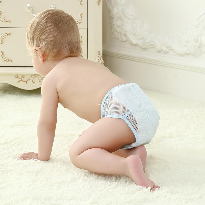 3條裝寶寶可洗尿布褲新生兒隔尿褲網透氣不防水嬰兒尿布兜 薄