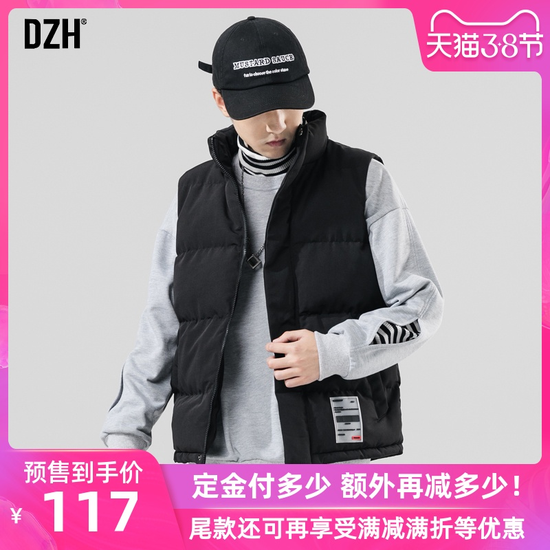 Men's cotton vest, men's spring and autumn trend vest, fashion brand INS, sleeveless waistcoat, working clothes, waistcoat and jacket