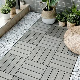 新品 户外塑木木塑地板 阳台浴室庭院DIY花园露台 防腐生态木地砖
