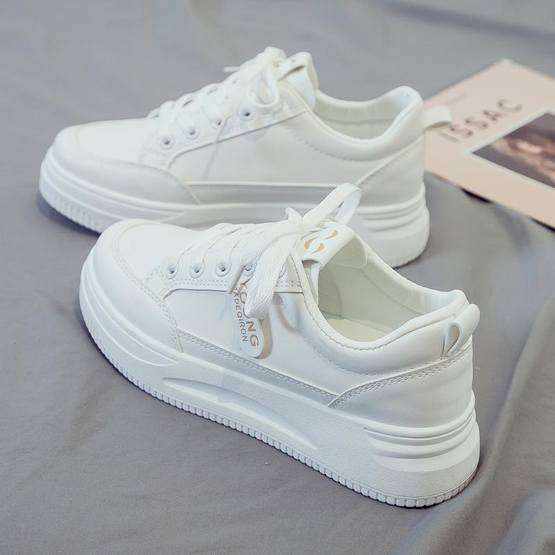 夏季小白鞋女鞋2021年新款厚底春...
