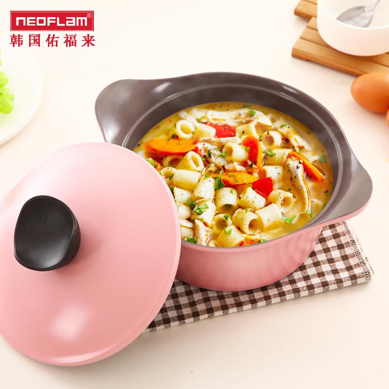 Neofflam陶磁器鍋家庭用鍋煮込んで麺を浸します。両耳は鍋にくっつかないです。電磁炉は通用します。
