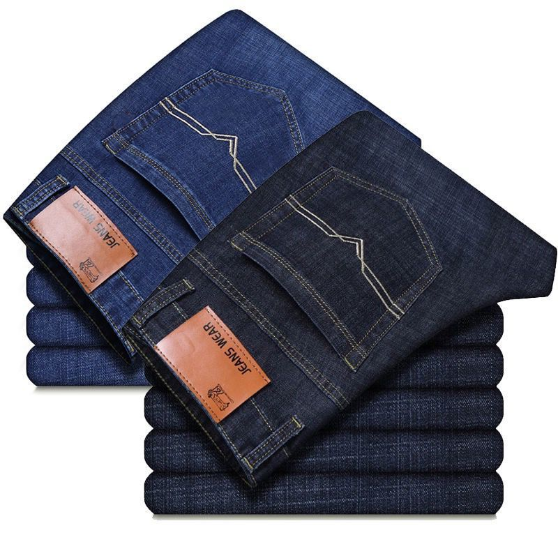 男人穿牛仔褂子配什么裤子:牛仔裤男装