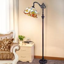 落地灯美式复古欧式田园客厅地中海卧室书房创意立地台灯钓鱼灯